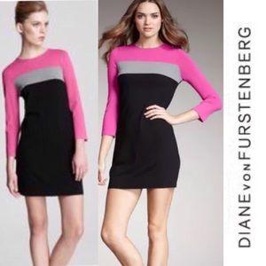 DVF Ania Color-block Shift Dress